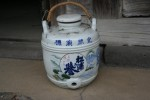 陶器の酒いれ