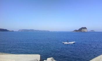 友より鷹島、小川島、加部島を望む