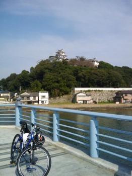 舞鶴橋で休憩