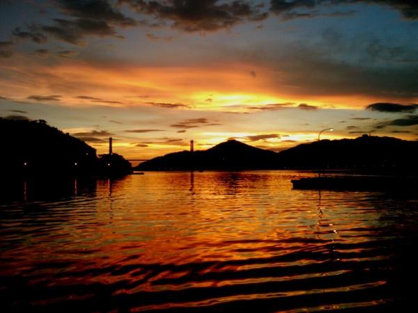 呼子港の夕日