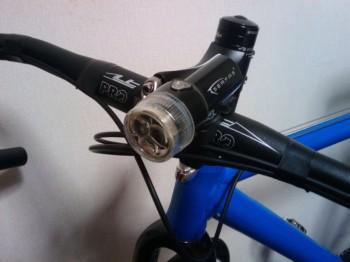 自転車製作No7 ヘッドライト
