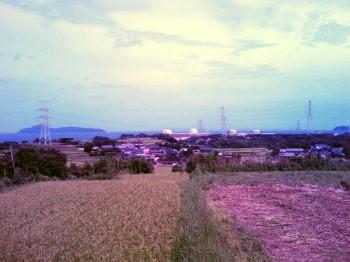 原発が見える丘から